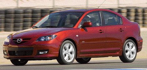 The 2005 Mazda3 is one of the top ten models for retained value after four years. 2009 model shown.