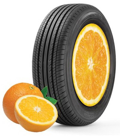 New Yokohama car tires are made with the oil of oranges.