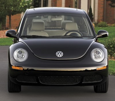 2009 New Beetle -- definitely not an aggressive face. Photo courtesy Volkswagen of American, Inc.