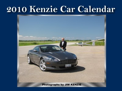 Jim Kenzie's 2010 Car Calendar features 14 photographs of exotic cars.