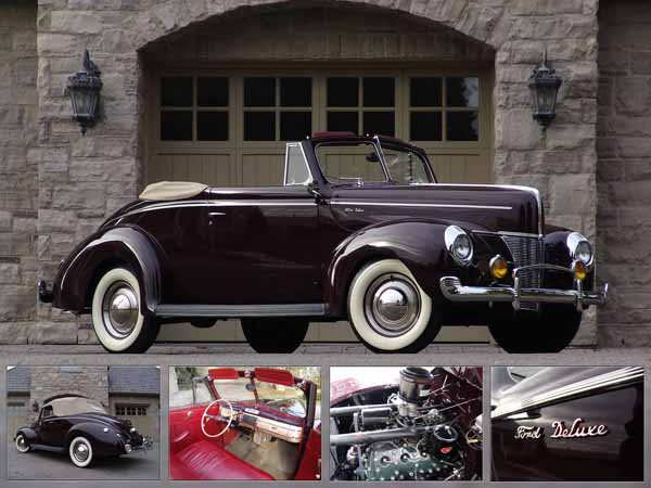 1940 Ford Deluxe Convertible. Photo credit: Legendary Motorcar Co. Ltd.
