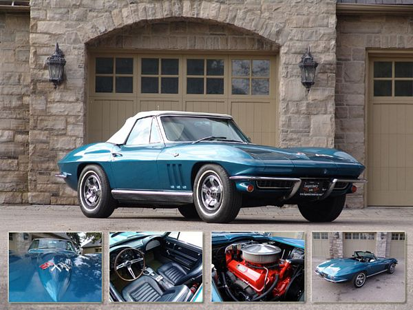 1966 Chevrolet Corvette Roadster. Photo credit: Legendary Motorcar Co. Ltd.