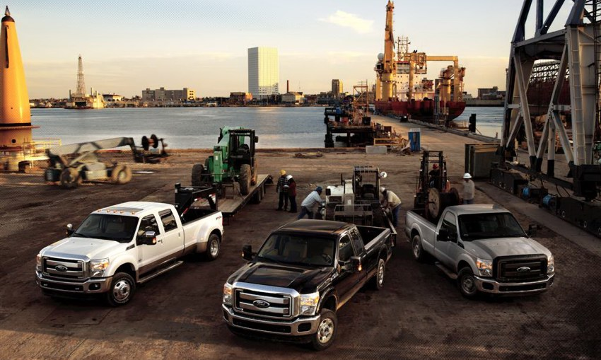 2011 Ford Super-Duty pickup trucks. Photo courtesy Ford.