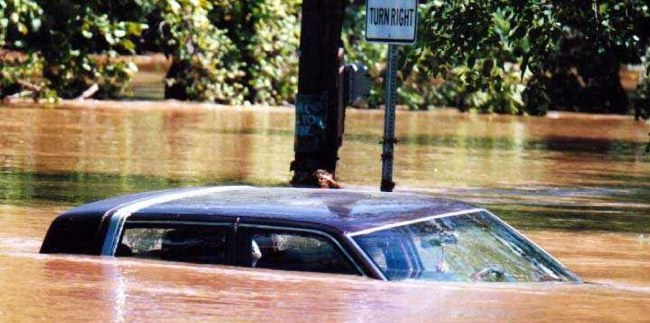 Flood-damaged cars can be found on the used car market, making vehicle history reports an important tool for buyers.