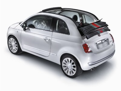 It's not a convertible in the traditional sense, but the sliding top is very much traditional in the context of the Fiat 500.