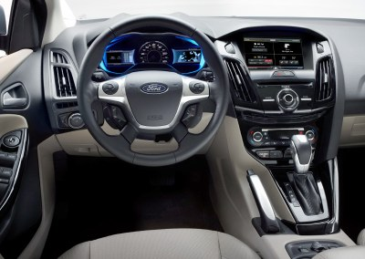 2012 Ford Fusion Electric (interior view).