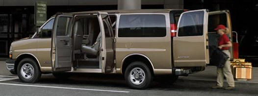 2005 Chevrolet Express is the twin of the GMC Savana cargo van.