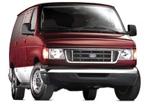 2005 Ford E-Series (formerly the Econoline) full-size van.