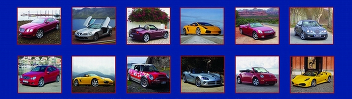 Auto journalist Jim Kenzie features photos of cars from trips around the world in his 2006 calendar.