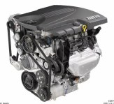 General Motors' 3500 3.5L V-6 is the base engine for the Chevrolet Impala.