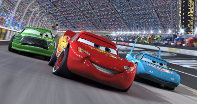 Image courtesy Pixar Animation Studios/Walt Disney Pictures. Cars the movie features the voices of real race car drivers, including actor Paul Newman.