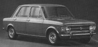 Poor quality image of Fiat 128, a front-wheel drive Italian sedan that was popular in Europe and South America but simply could not stand up to the corrosive salt on Canadian roads in winter. One Toronto season corroded it completely.