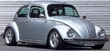 It's the same colour and same year, but Bill's 1984 Volkswagen Beetle wasn't tarted up like this German show car.