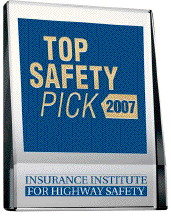 IIHS' 2007 Top Safety Pick Award was given to 13 vehicles.