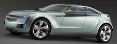 The Chevrolet Volt concept car would run on several power sources.