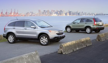 2007 Honda CR-V (these are not the base models, as indicated by the nice wheels, not standard in the base LX trim.