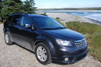 2008 Subaru Tribeca at Johnston's Pond in Shelburne County, Nova Scotia.