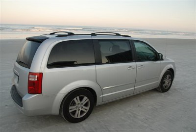 2008 Dodge Grand Caravan SXT on New Smyrna Beach, Florida, one of the few public beaches in the world that one can drive on (at low tide, of course). Photo (c) Bill Roebuck