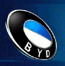 BYD logo (made in China) from www.bydauto.com.cn uses the same colours as the BMW logo.