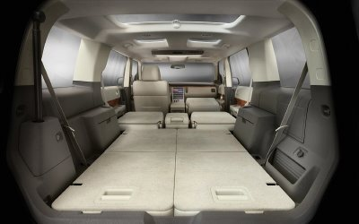 2009 Ford Flex cargo space.